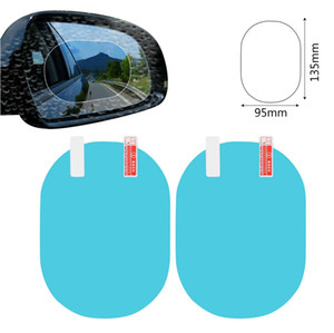 Wholesale 2019 New Pair Car Mirror Window Clear Film Anti Fog Anti glare Waterproof Rainproof Car Rearview Mirror Protective Film Car Sticker
