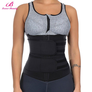 Neoprene Waist Trainer Body Shaper Slimming Wrap Belt Sauna Waist Trainer Cincher Corset Fitness Sweat Belt Girdle Shapewear T191025