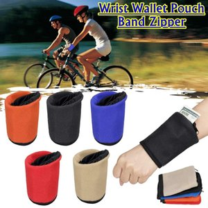 Wholesale Fashion New Men Women Wrist Wallet Pouch Band Zipper Running Travel Gym Cycling Safe Coin Purse Change Sport Bag Male