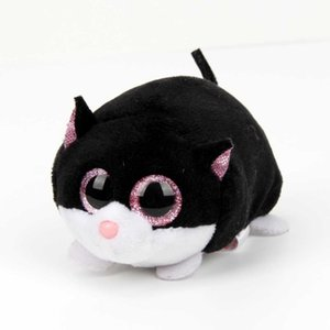 Wholesale 10cm kawaii Original Ty Beanie Boos Big Eyes Plush Toy Doll Black Cat toys for children halloween baby toys