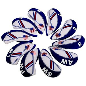 Wholesale golf iron cap Set club cover cap set Golf hat Men and women outdoor sports bag travel bag flag