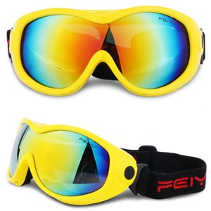 Wholesale Windproof Single Lens Winter Outdoor Sports Equipment Eyewear Adults Kids Ski Goggles Snow Glasses UV400 Snowmobile Colors