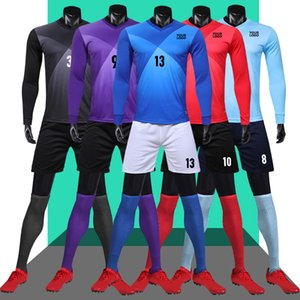 Wholesale Customized men long sleeve soccer jerseys Soccer Team Training Jersey football shirt uniforms Running Shirts With Shorts camisa de futebol