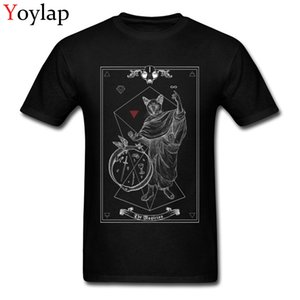 Wholesale Tarot The Magician I inverted Casual Tops T Shirt for Boys Cotton Fabric Summer O Neck T Shirt Group Clothing Shirt Classic