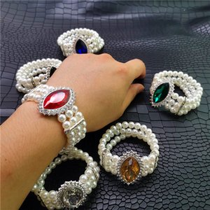 Wholesale YD YDBZ NEW Crystal Stone Bracelet For Women Fashion Fake Pearl Bracelets Luxury Jewelry White Pearl Jewellery Colors Bangles