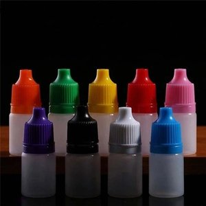 Wholesale Colorful ml ml ml ml ml ml Empty E Liquid Plastic Dropper Bottles with Child Proof Bottle caps Needle Tips E liquid