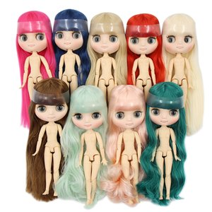 Wholesale Factory Blyth Middie Doll Matte Face Joint Body Short long Hair Curly straight Hair Special Offer Naked Middie Doll cm MX190801