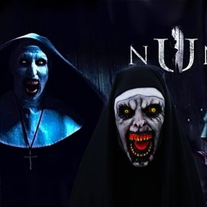 Wholesale The Nun Horror Mask Cosplay Valak Scary Latex Masks with Headscarf Full Face Helmet Halloween Party Props Drop Shipping New Fashion Costumes