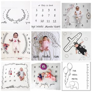 Wholesale ins newborn photography background props baby photo prop fabric backdrops easter infant blankets wrap letter soft blanket E K0228