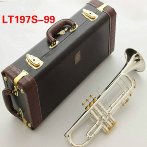 Best quality Bach Bb Trumpet instrument LT197S-99 Silver plating trumpet musical professional performance With case