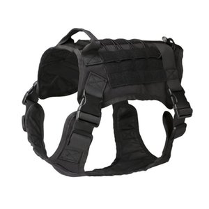 Wholesale Tactical Dog Modular Harness with No Pull Front Clip law Working Cannie Molle Training Hunting Vest
