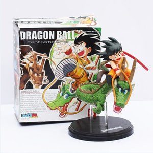 Wholesale 12cm Dragon Ball Z Sun Goku Childhood dragonball kid goku Shenron shenlong PVC Action Figure Model Toy