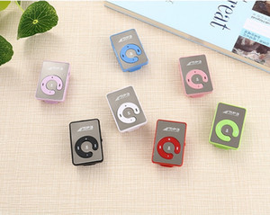 Wholesale usb mini clip mp3 player for sale - Group buy MINI Clip MP3 Player Music player Without Screen Support Micro SD Card TF Slot Earphone USB Cable