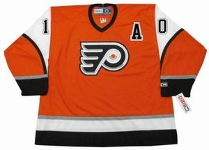 Men Women Youth Custom Goalie Cut JOHN LeCLAIR Philadelphia Flyers 2003 Alternate Hockey Jersey Top-quality Any Name Any Number on Sale