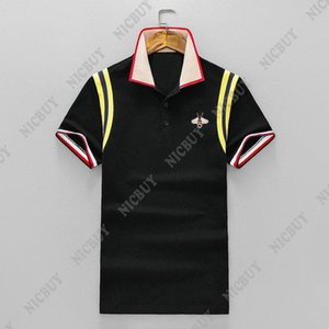 Wholesale 2019 summer new designer men brand clothing fabric striped polo embroidery D bee t shirt casual short sleeve women tshirt tee shirt