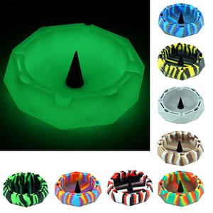 Diamond cut circle shape silicone ashtray More color choices Colorful Ashtrays,Gifts Home Office Decoration Free Delivery