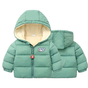 2019 Children's Outerwear Boy and Girl Winter Warm Hooded Coat Children Cotton-Padded Down Jacket Kid Jackets 1-6Years