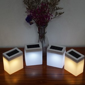 Wholesale New Arrivals Solar Light Outdoor Fashion Square Solar Wall Light Garden Lights Fence Lamp Camping Lamp Bar Table Lamp