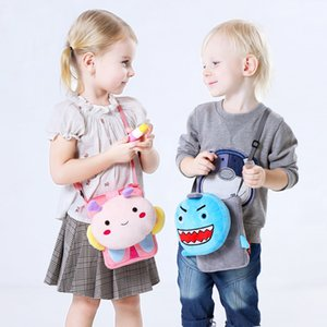 Wholesale Lovely Plush Baby Toddler Infant Cat Purse Kids Messenger Bag Girls Cartoon Shoulder Bag Child Cute Animal Pattern Crossbody Bag