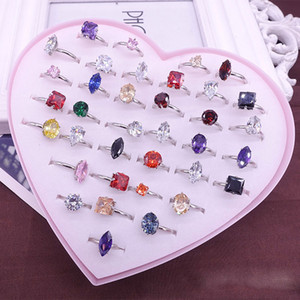 Wholesale Fashion Newest Natural Stone Diamond Rings Beautiful Vintage Malachite Rainbow Stone Women s Men Party Jewelry Charm Gifts