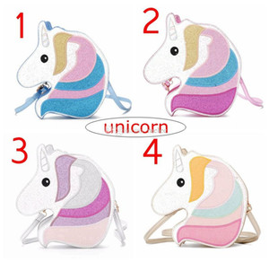 retail ins New Unicorn shape shoulder bag handbag Women Colorful Sequin Cute Unicorn Design Crossbody Messenger Bag Casual Ladies Handbag
