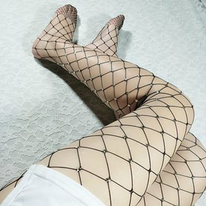 Wholesale Hot Sexy Fishnet Stockings Women Star Sexy Pantyhose Female Punk Fashion Mesh Stocking Black Nylon Party Nightclub Stockings SYZZ