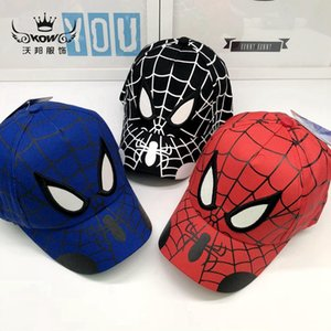 Wholesale Kids summer casquette caps Spider Man cartoon hats for kids baby outdoor baseball caps