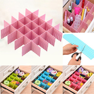 Wholesale Divider Storage Drawers Organizers For Shoe Underwear Socks Separator Expandable Adjustable Cabinet Board Grid Household Sizes WX9