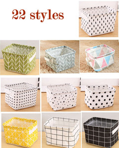 Foldable Colors Sundries Storage Bin Closet Toy Box Container Organizer Fabric Basket Home Desktop Storage wash-stand Cosmetics Basket Bags on Sale