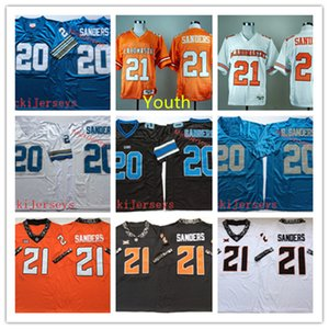 Wholesale Youth NCAA Vintage #21 Barry Sanders Oklahoma State Cowboys Jersey stitched Kids #20 Barry Sanders Football Jersey S-2XL