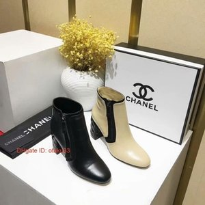 Wholesale 2019 New Fashion Black Pointed Toe Brand High Heels Ankle Boots Winter Women Shoes Lady Party Boots