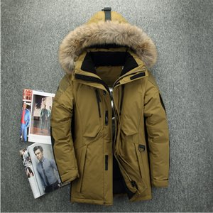 Mens Down Coats Polyester Winter Jackets Thick Casual Outerwear Windproof Handsome -20C Warm Regular Parkas And Coats Hooded on Sale