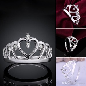 Wholesale Ring Wedding Wholes Diamond Engagement Rings Fashion Costume Jewelry Sterling Silver Women Masonic Crown Silver Rings