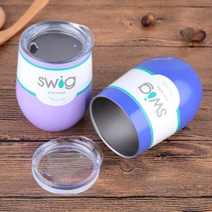 Wholesale Hot Sales oz Egg Shapped Mug Swig Wine Cups Stainless Steel Swig Tumbler Insulated Thermos Cup Travel Coffee Mug Swig Beer Mug C19041601