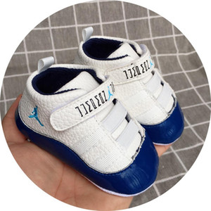 Hot Sale 2019 Spring and Autumn Baby Shoes PU Leather Newborn Boys First Walker Shoes Infant Prewalker Sneakers Shoes.A02