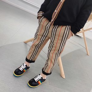 Wholesale new arrive Children Baby Double-sided wear pants Kid Boys girls Retro Khaki and black Casual Pants Straight Trousers
