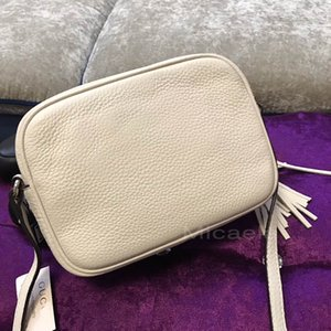 Cream Micaela Original Calfskin Soho Camera Bag Top Quality Zipper Disco Shoulder Bags Women Designer Tassel Zipper Genuine Leather Bags on Sale
