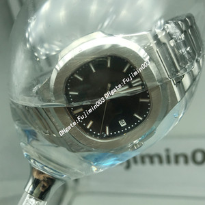 Wholesale 50metres waterproof Nautlus A Sport Watch Men Brand Auto Monement Watch Silver Case Blue Dial Stainless Band Watch Montre Homme
