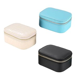 Wholesale travel jewelry box leather for sale - Group buy Simple Jewelry Box Faux PU Leather Earrings Necklace Bracelet Storage European Style Portable Travel Jewellery Organizer Box