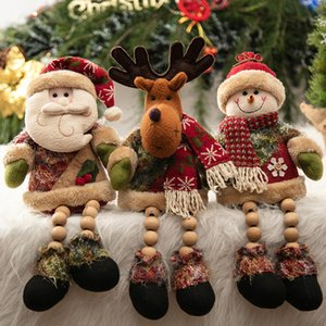 Wholesale New Christmas Tree Window Plush Doll Santa Clause Elk Snowman Home Party Xmas Decoration DIY Ornament Gift New Year