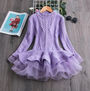 Thick Warm Girl Dress Tutu Red Christmas Dress Cotton Long Sleeve For Girl New Year Girl Children Clothing Winter Kids Dresses