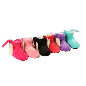 Wholesale Girls Shoes New Indoor Home Slippers Flannel Shoes Plush Home Slippers children Wooden Floor For Girls Candy