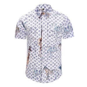 397b244bd37 Wholesale 2018 Summer New Pattern Short Sleeve Shirt Suit Collar Printing  Young And Middle-aged