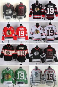 Wholesale 2016 Cheap Chicago Blackhawks Hockey Jerseys Jonathan Toews mens Jersey with C Patch home red white green black skull gray