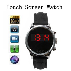 Wholesale New Arrival HD P Camera Touch Screen Watch Digital Voice Recorder Motion Detection Mini DV Wide Angle Len Sport Camera