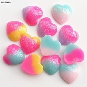 Wholesale 200 Resin beads Size mm Heart Shape Colors Cabochon Domes Flat back Jewelry Finding Cameo Pendant Settings E2043