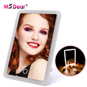 LED Touch Screen Makeup Mirror Adjustable 180 Rotating Vanity Table Stand Mirror With LED Lights Beauty Cosmetic Makeup Tools