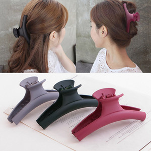 Korea simple large solid color matte acrylic grip Japanese and Korean Korean hairpin hair grab hair hair jewelry headdress