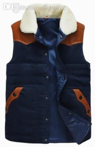 Fall-the New Winter Leather Shoulder Cotton Vest Down Jacket on Sale