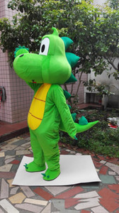 Wholesale 2019 Factory sale Green dragon Dinosaur Mascot Costume Cartoon Clothing Adult Size Fancy Dress Party